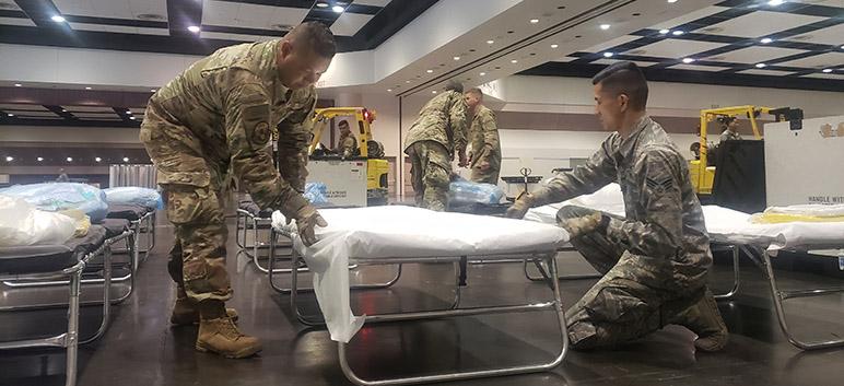 National Guard Preps Events Center for Coronavirus Patients | San Jose Inside