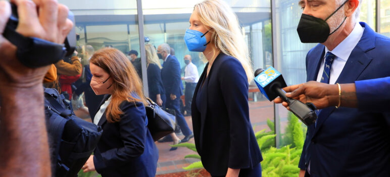 Elizabeth Holmes arrives at United States Federal Courthouse.
